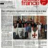Les collégiens de Louise Michel et la cérémonie du 8 mai dans Ouest-France