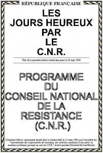 Titre de la première édition clandestine par le C.N.R parue le 24 mars 1944.