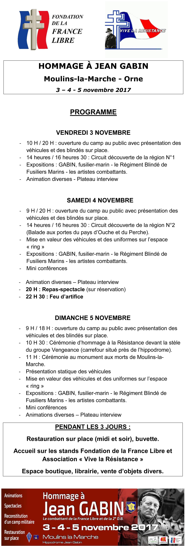 PROGRAMME Hommage à Jean GABIN Site